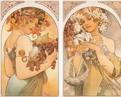 Frutos y Flores de Alfons Mucha