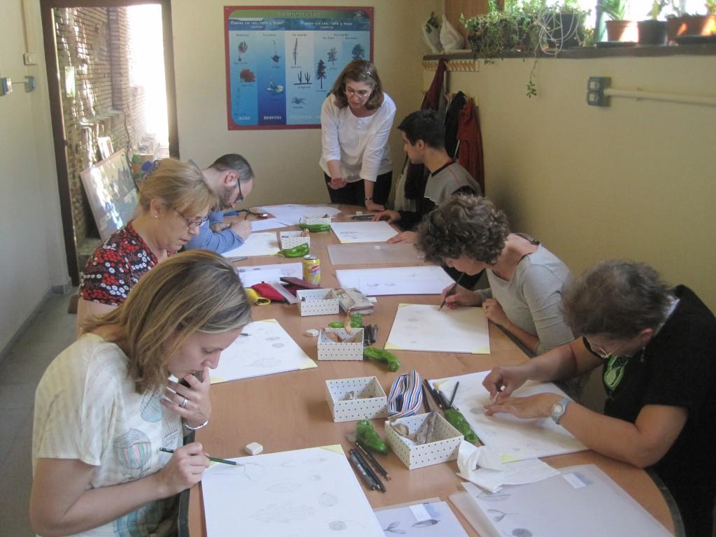 Los alumnos trabajando