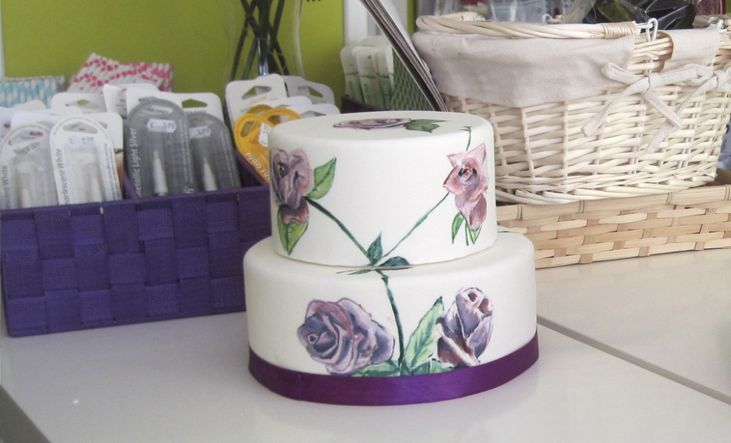 Tarta decorada por Manuela Lozano