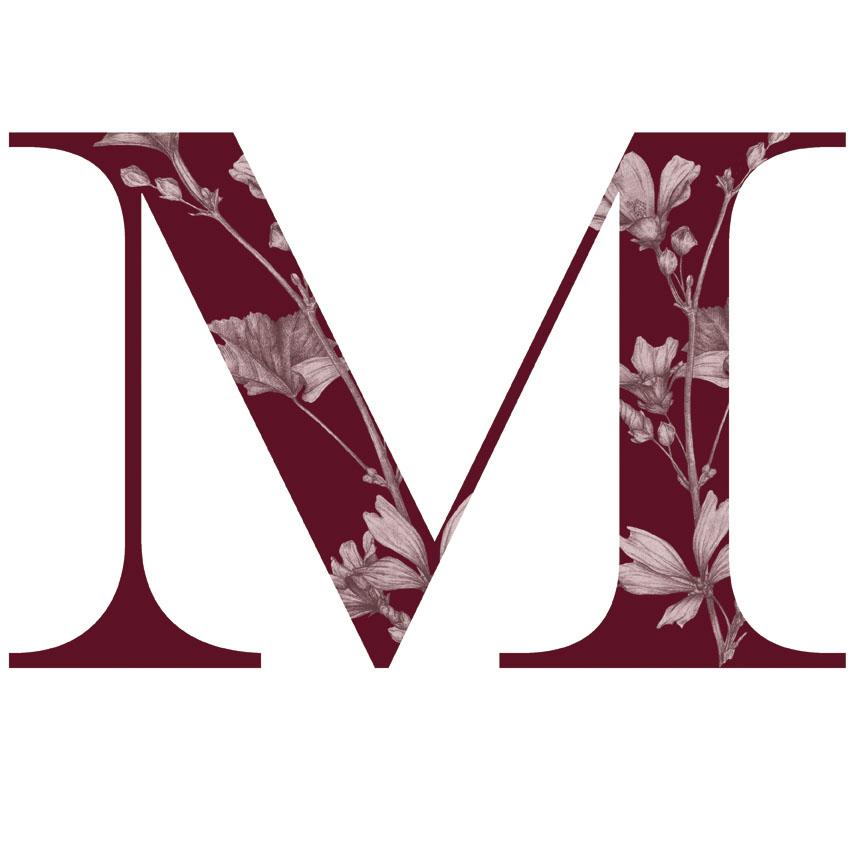 LETRA-M-con malvas en la letra