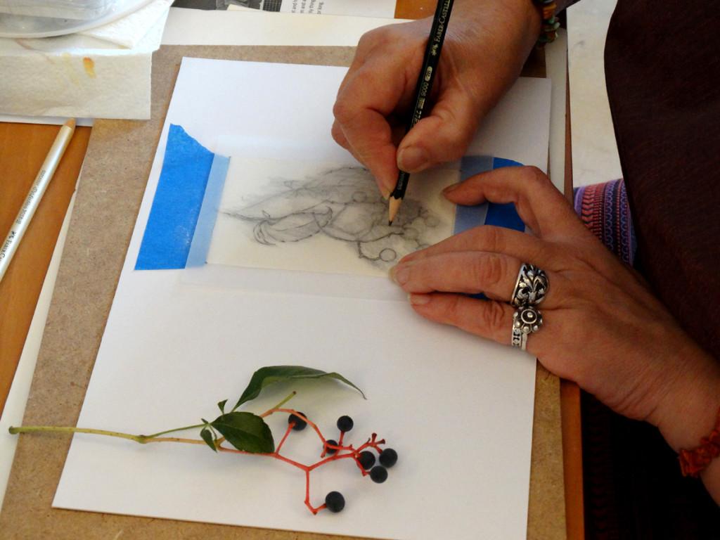 Transfiriendo el dibujo